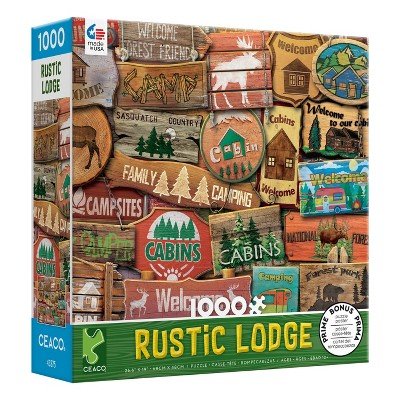Ceaco Rustic Lodge: Sasquatch Country Jigsaw Puzzle - 1000pc