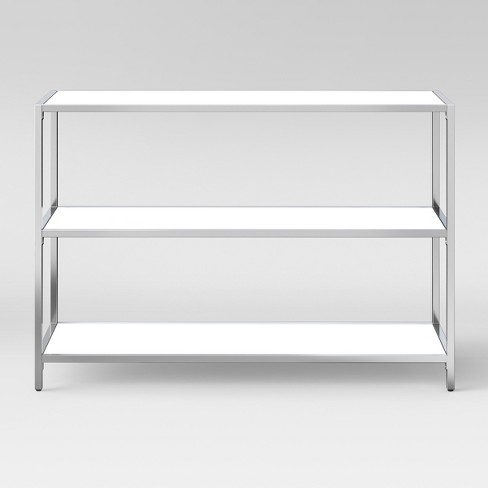 Ronchamp 30 High Gloss And Chrome Horizontal Bookcase White Project 62 Target