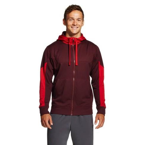 C9 Champion® Men's Mesh Tech Fleece Full Zip Hoodies Maroon XXL - image 1 of 1