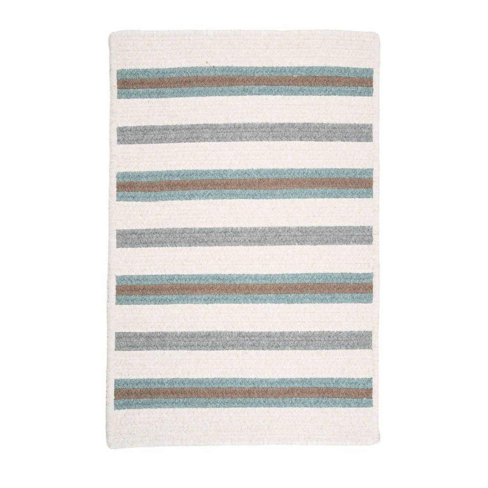 4 39 X6 39 Uptown Stripe Braided Area Rug Green Colonial Mills