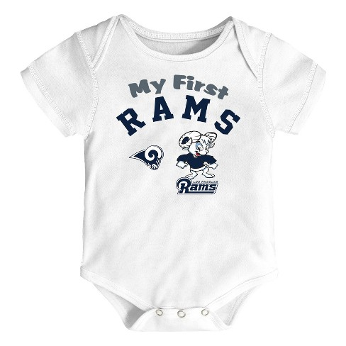 NFL Los Angeles Rams Boys  Newest Fan 3pk Bodysuit Set   Target 5080d29d6