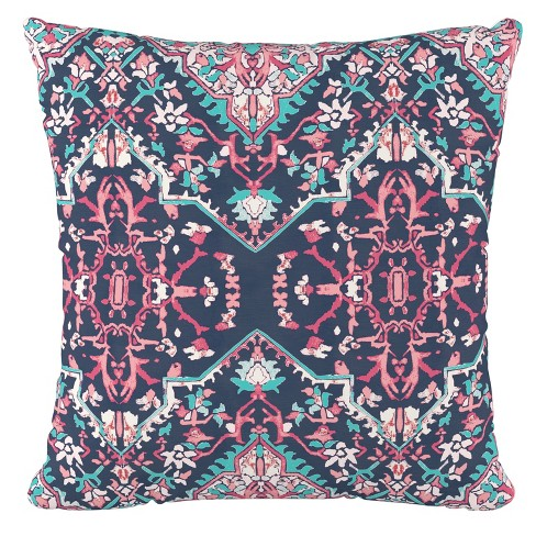 Print Square Throw Pillow Pink/Navy   Cloth & Company : Target
