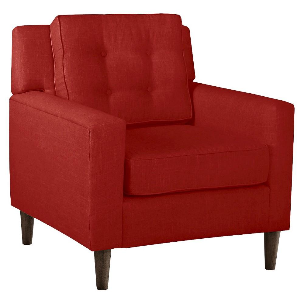 Skyline Custom Upholstered Arm Chair - Skyline Furniture, Linen Antique Red