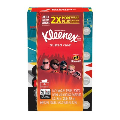 Kleenex Incredibles Trusted Care Facial Tissue - 640ct