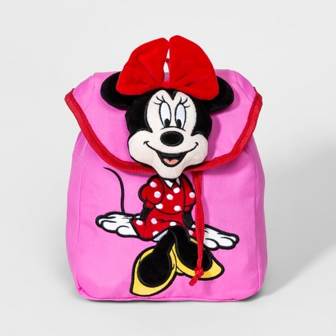 Girls' Mickey Mouse & Friends Minnie Mouse Plush Backpack - Pink - image 1 of 2