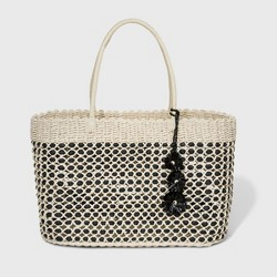 Large Straw Tote Handbag - A New Day™ Natural