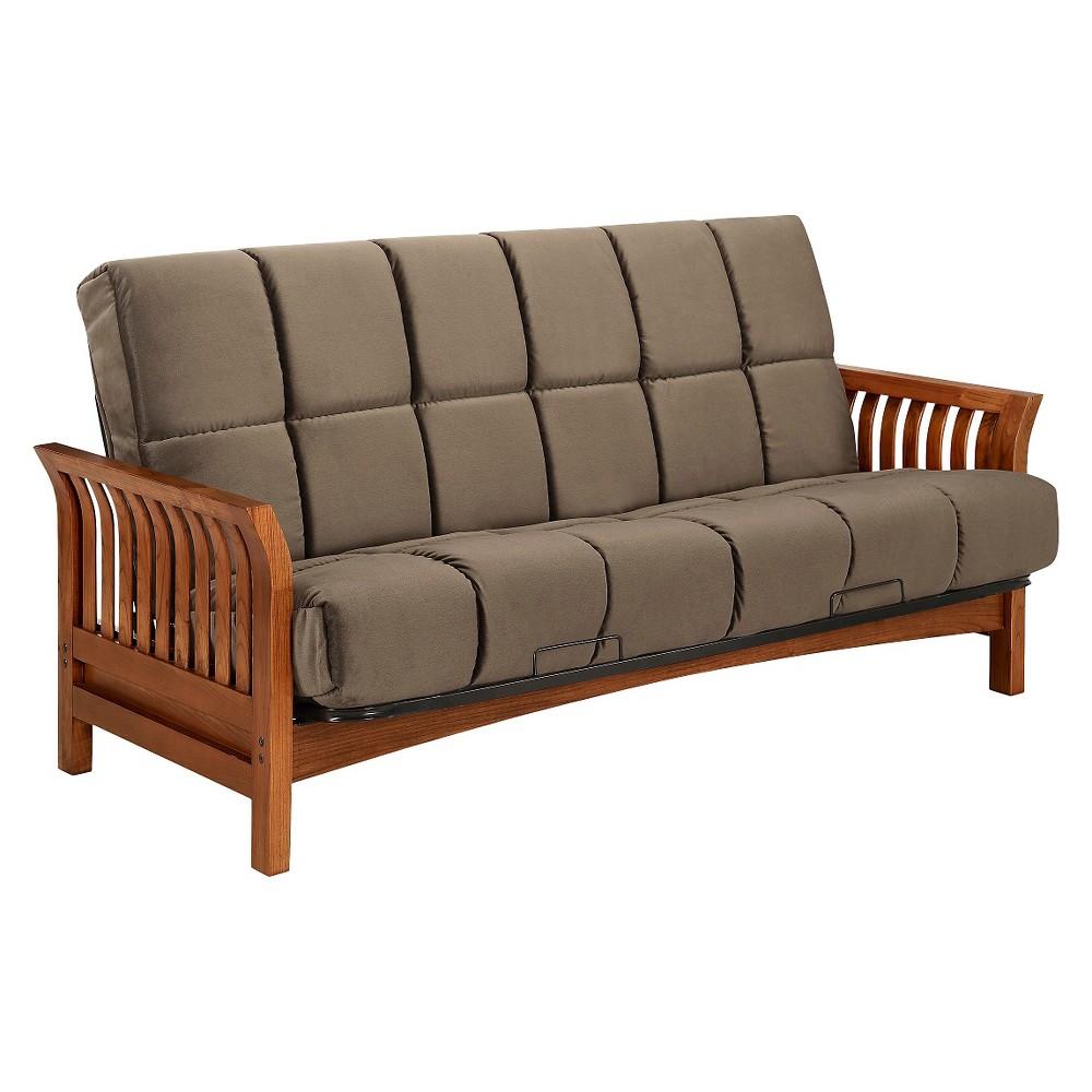 Boston Futon Sofa - Simmons, Antique Wood