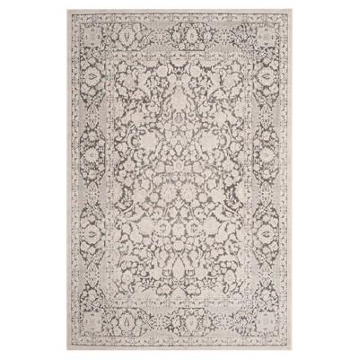 8'x10' Maribel Floral Loomed Area Dark Gray/Cream - Safavieh