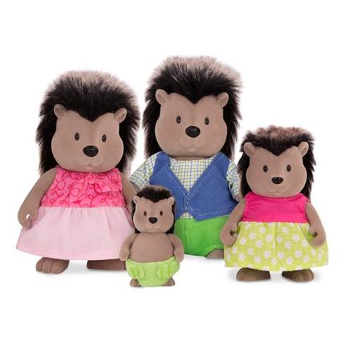 Li'l Woodzeez Miniature Animal Figurine Set - McBristly Porcupine Family - image 1 of 4