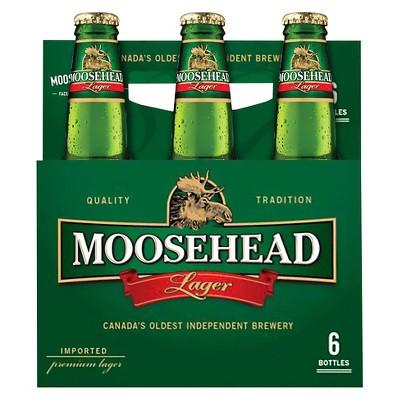Moosehead Lager Beer - 6pk/12 fl oz Bottles