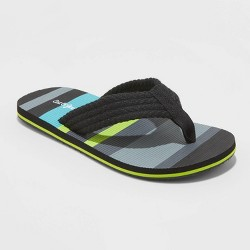 Boys' Bruno Flip Flop Sandals - Cat & Jack™ Black