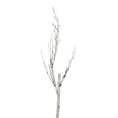 """Northlight 46.5"""" White and Brown Birch Artificial Christmas Branch Twig"""