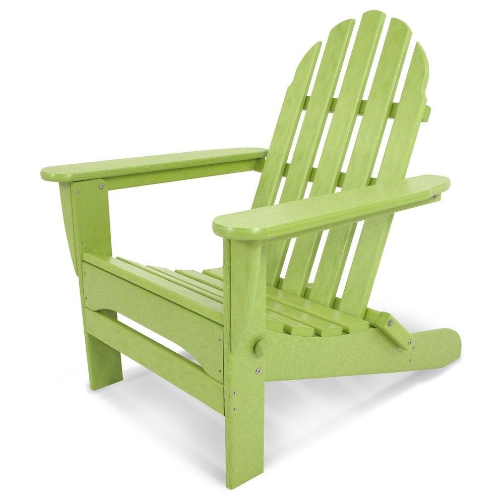 Image of POLYWOOD Classic Folding Patio Adirondack Chair - Lime, Green