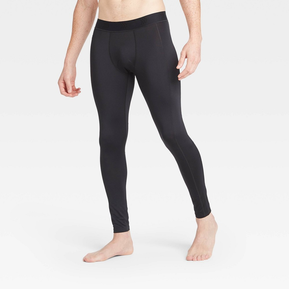 Men 39 S Fitted Tights All In Motion 8482 Black S