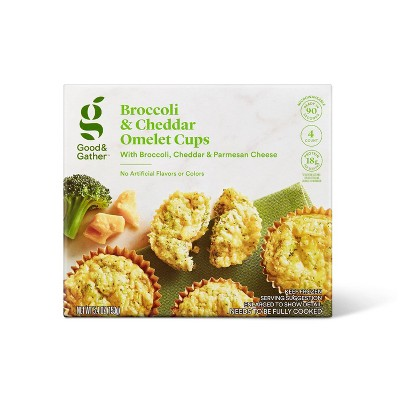 Broccoli & Cheddar Cheese Frozen Omelet Cups - 5.4oz - Good & Gather™
