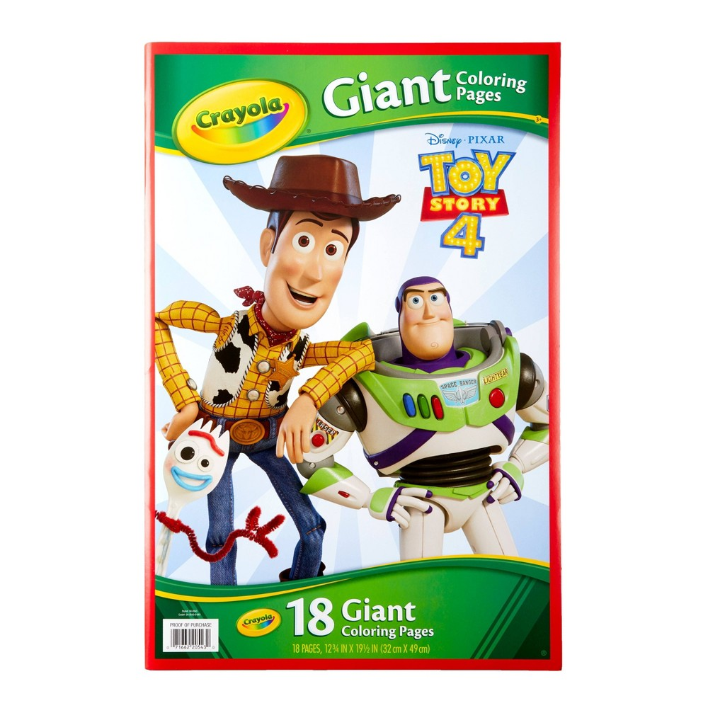 Image of Crayola 18pg Toy Story 4 Giant Coloring Book