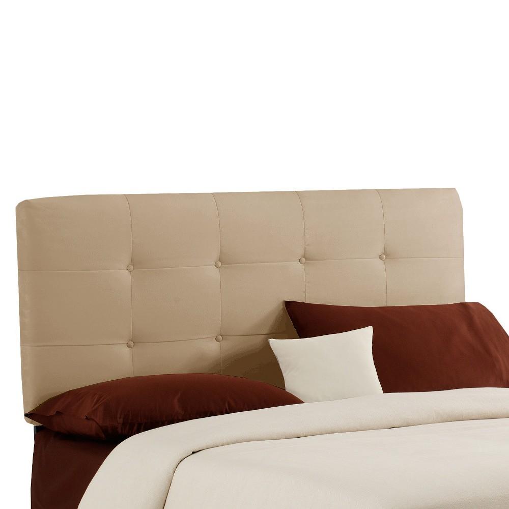 Dolce Microsuede Headboard - Premier Oatmeal - Twin - Skyline Furniture