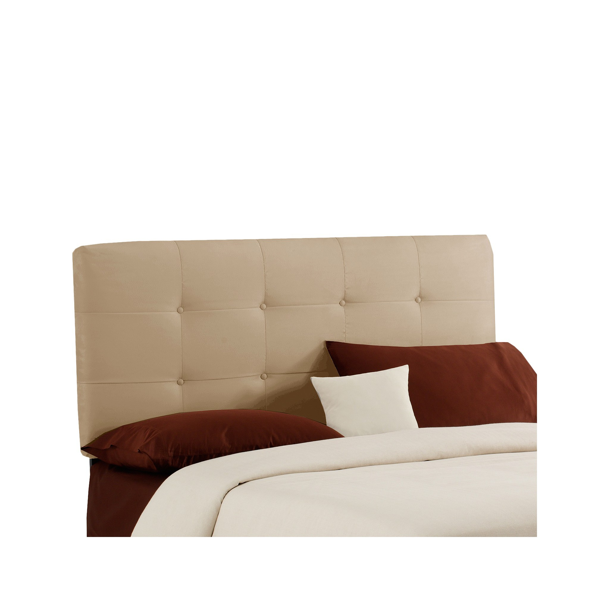 Dolce Microsuede Headboard - Premier Oatmeal - Full - Skyline Furniture
