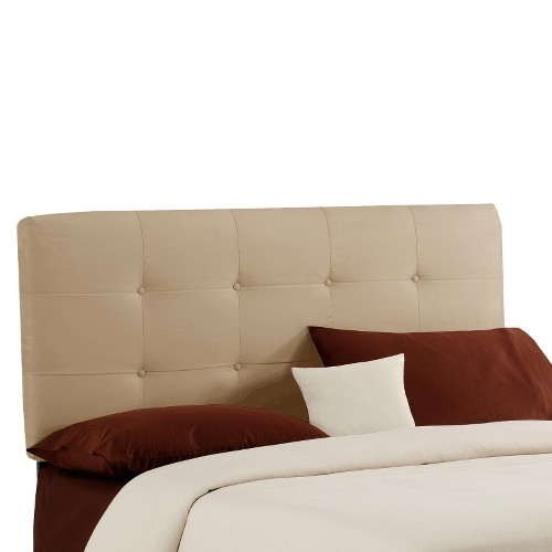 Dolce Microsuede Headboard - Premier Oatmeal - Queen - Skyline Furniture