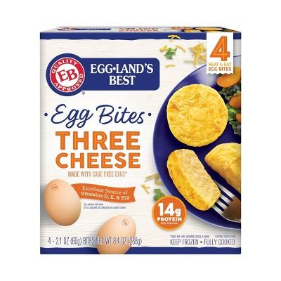 Eggland's Best Frozen Cage Free Three Cheese Egg Bites - 8.4oz/4ct