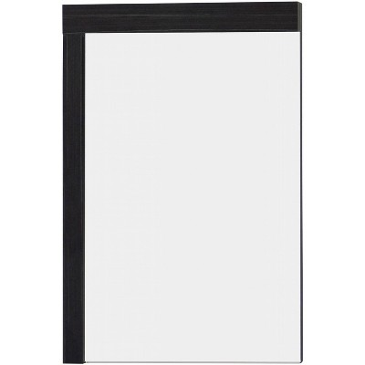 "23.5"" D1 Modern Plywood Melamine Mirror Dark Gray - American Imaginations"