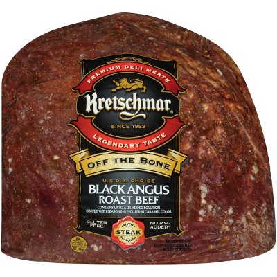 Kretschmar Off the Bone Black Angus Roast Beef - Deli Fresh Sliced - price per lb