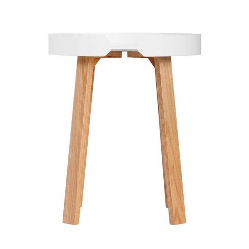 Remus Round Side Table Oak Brown/White - Universal Expert - image 1 of 4