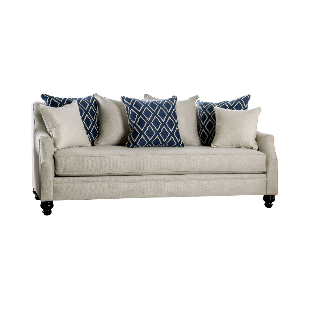 Carisa Sofa Ivory - Homes: Inside + Out