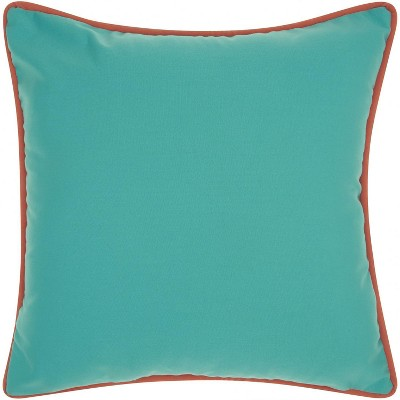 Mina Victory Three Color Solid & Cord Aqua Turquoise Outdoor Throw Pillow : Target