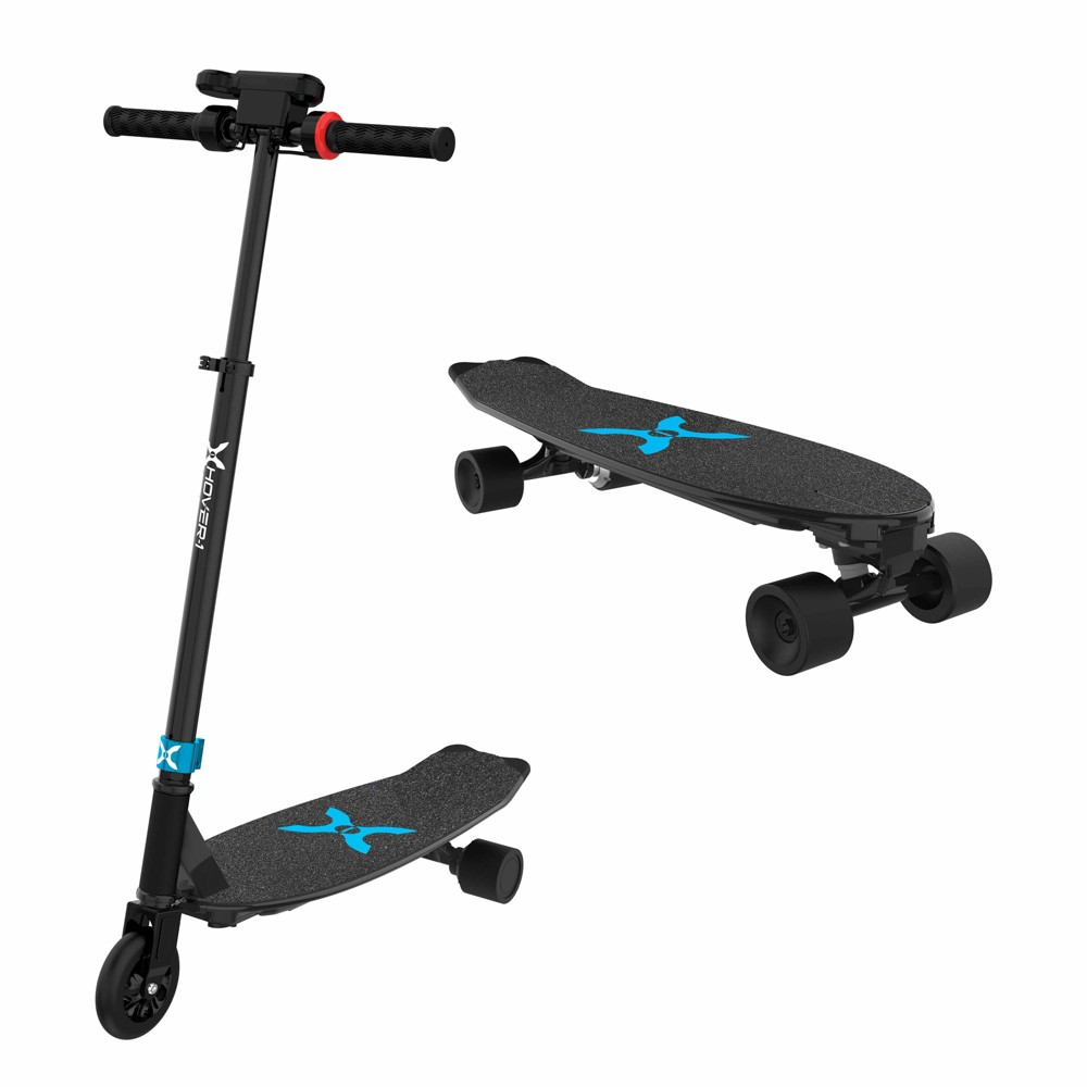 Hover-1 Switch 2-in-1 Skateboard/Scooter Combo - Black