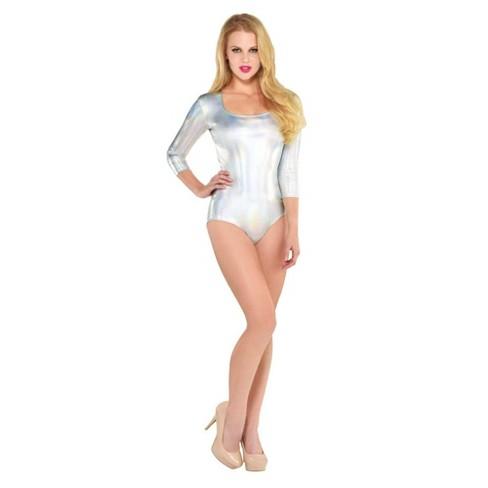 Adult Bodysuit Iridescent Halloween Costume - image 1 of 1