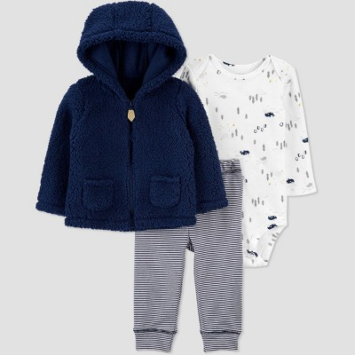 Baby Boys' Winter Animals Top & Bottom Set - Just One You® made by carter's Navy 6M