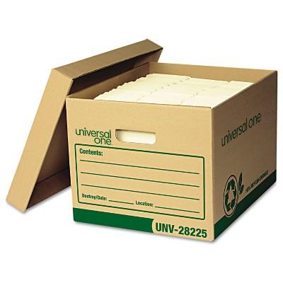 UNIVERSAL Recycled Record Storage Box Letter/Legal 12 x 15 x 10 Kraft 12/Carton 28225