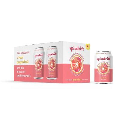 Spindrift Sparkling Water Grapefruit -8pk/12 fl oz Cans