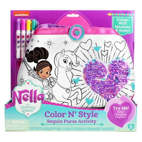 Nickelodeon Nella the Princess Knight Color N Style Sequins Purse - image 1 of 3
