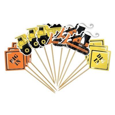 12ct Construction Food Picks - Spritz™