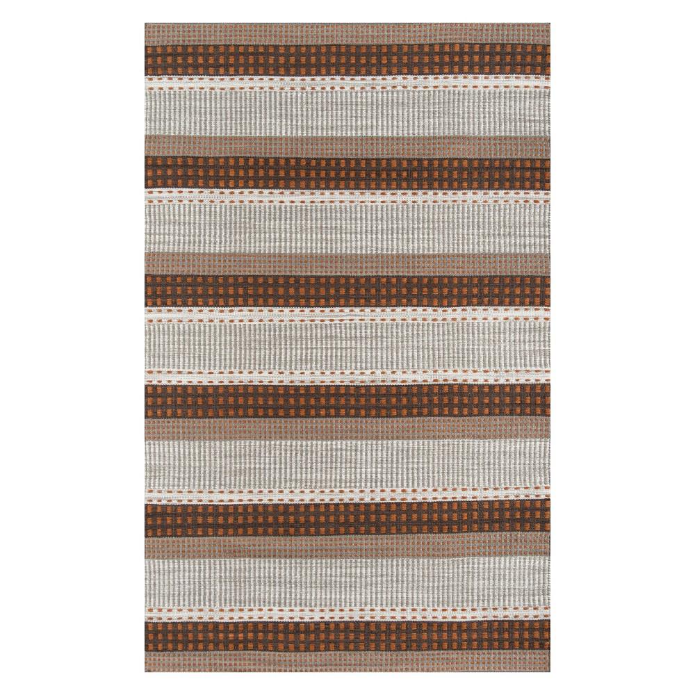 5'X8' Stripe Woven Area Rug Rust (Red) - Momeni