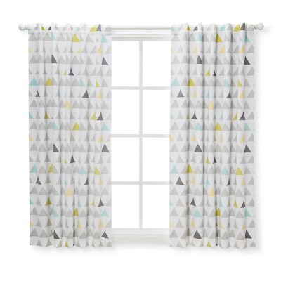 Blackout Curtain Panel Triangles (42 x 63 )- Cloud Island™ Gray