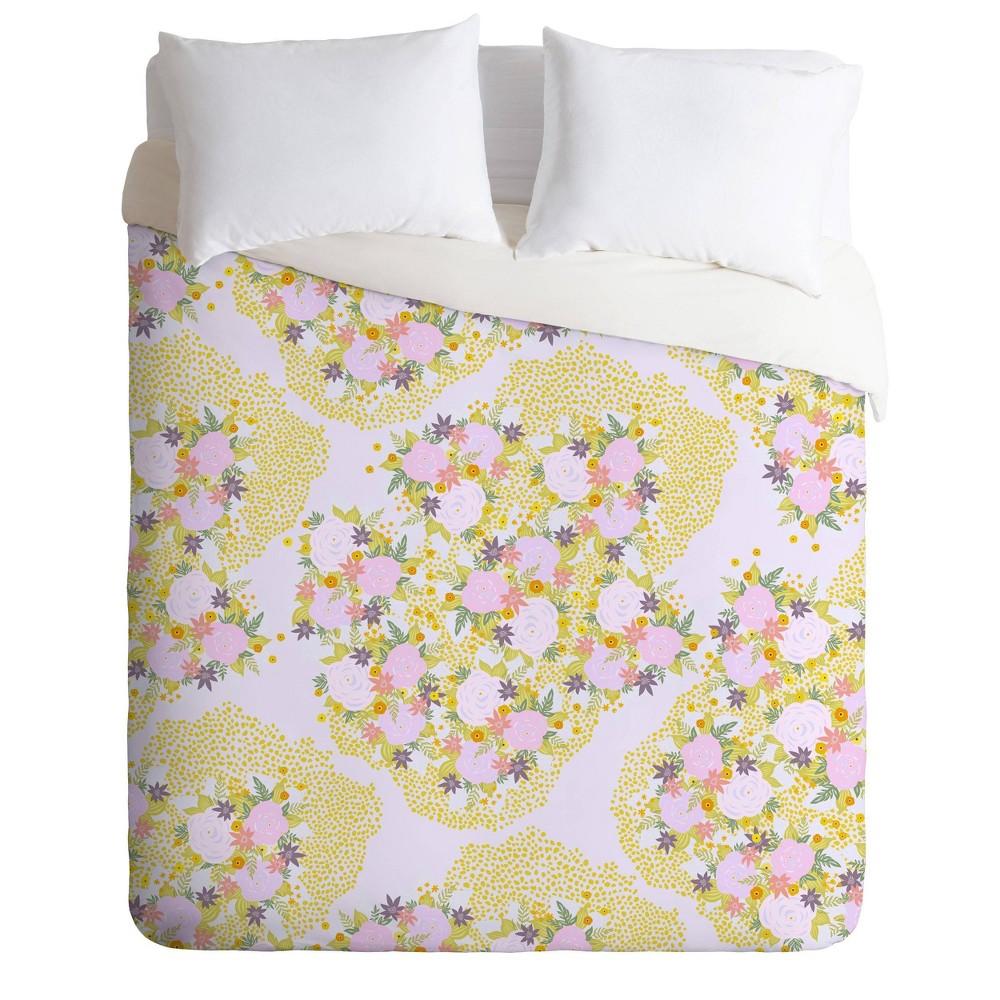 King Iveta Abolina Babette Garden Duvet Set Yellow Deny Designs