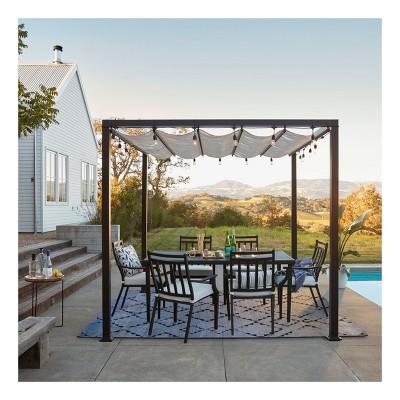 Fairmont 7pc Metal Patio Dining Set - Linen - Threshold™