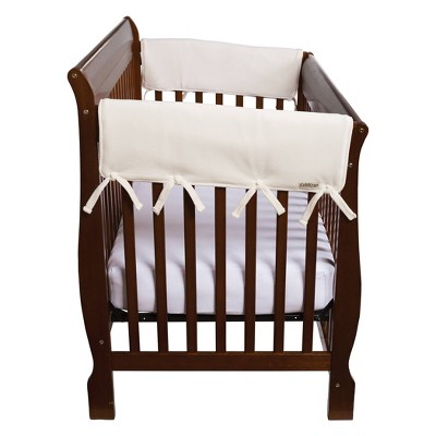 """Set of Two Fleece 27"""" Side Rail Cover for Convertible Cribs- Natural"""
