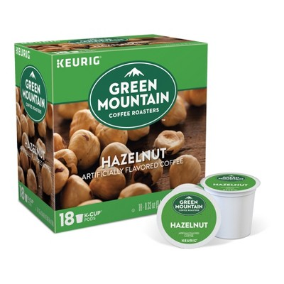 Green Mountain Coffee Hazelnut Flavored Medium Roast Coffee - Keurig K-Cup Pods - 18ct