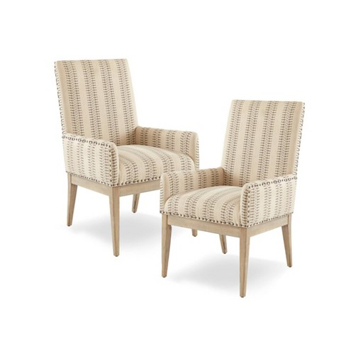 Set of 2 Rain Arm Dining Chair Natural - image 1 of 9