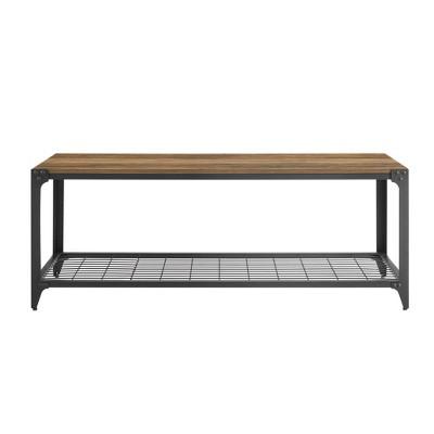 "48"" Industrial Angle Iron Entry Bench - Saracina Home : Target"