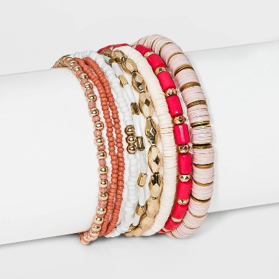Multi Beaded Bracelet Set 9pc - Wild Fable™