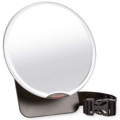 Diono Easy View  Baby Car Mirror Adjustable Safety Car Seat Mirror for Rear Facing Infant Crash Tested - Silver