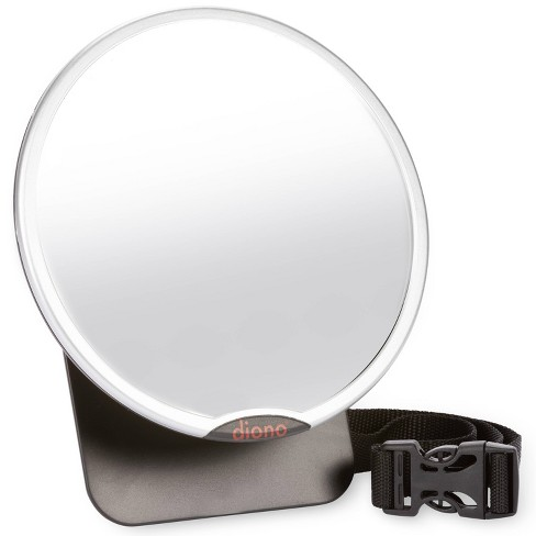 Diono Easy View  Baby Car Mirror Adjustable Safety Car Seat Mirror for Rear Facing Infant Crash Tested - Silver - image 1 of 4