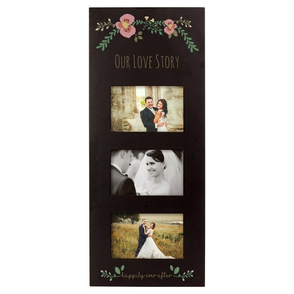 'Our Love' Picture Frame Floral Black, Black/Floral