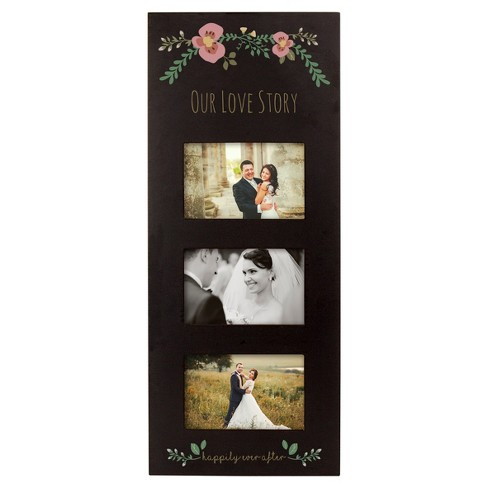 Black Floral Multi Picture Frame - image 1 of 7