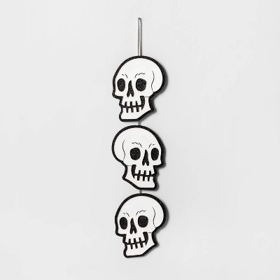 Triple Skull Halloween Hanging Wood Sign   Hyde And Eek! Boutique by Hyde And Eek! Boutique
